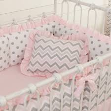 pink and gray chevron nursery decor
