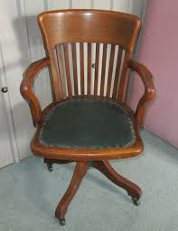 edwardian arts and crafts swivel desk chair oak office chair