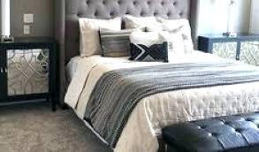 grey headboard bedroom ideas bed dark light