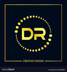 Dr Letter Template Initial Letter Dr Logo Template Design