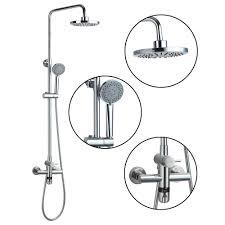 thermostatic brand bathroom:  thermostatic new brand bathroom round quot rainfall shower head chromeheldhead shower faucet