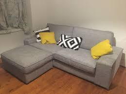 ikea kivik sofa footstool grey in aberdeen gumtree regarding kivik armchair