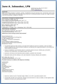 Resume Objectives Sample Lpn Resumes mayanfortunecasinous 95