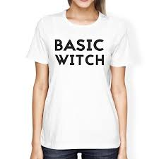 Basic Witch Funny Halloween Costume T Shirt For Women Gift