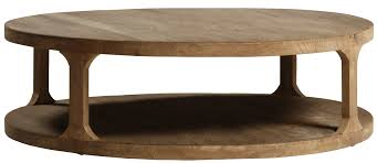 round planed coffee table