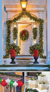 exterior decorations. dress your home to impress with these outside christmas decorations-entryway exterior decorations t