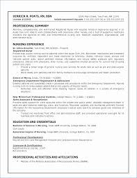 Emergency Nurse Resume Magnificent Er Nurse Job Description For Resume Best Of Professional Summary For