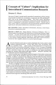 concept of ldquo culture rdquo implications for intercultural communication concept of ldquoculturerdquo implications for intercultural communication research pdf available