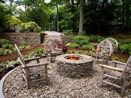 deck patio with fire pit. Contemporary Pit Garden IdeasOutdoor Patio With River Rocks And Fire Pit Landscaping Around  Backyard Design Inside Deck