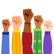 Free Vector | Multiracial raised fists