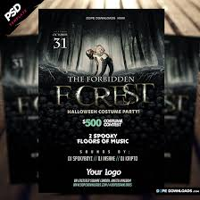 Halloween Flyers Templates Forbidden Forest Halloween Flyer Template Dope Downloads