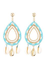 image of rebecca minkoff louisa beaded chandelier earrings