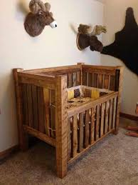 baby furniture images. rustic baby crib and hunting lodge bedroom the stuffed animal heads are so cute furniture images