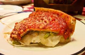 giordano s special stuffed pizza slice