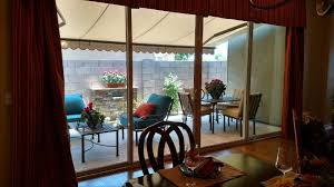 home glass installation done by glass king view from the kitchen out to the patio