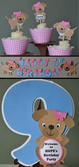 Dog Birthday Decorations 17 Best Images About Dog Birthday On Pinterest Puppys Cupcake