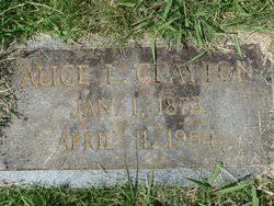 Alice Leona Sims Clayton (1873-1954) - Find A Grave Memorial