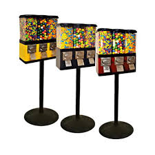 Candy Vending Machines Sale Stunning Triple Pod Candy Gumball Vending Machine WStand