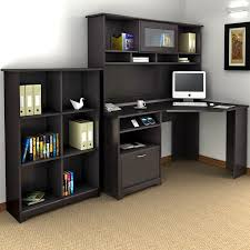 corner office desk with hutch. bush cabot corner desk with hutch and bookcase this collection is what separates the office from your average workspace computer e