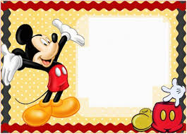 Free Mickey Mouse Template Download Free Mickey Mouse Invitation Template Download Template