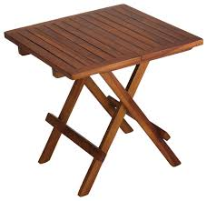 best small folding side table bare decor ravinia folding teak small table oiled finish