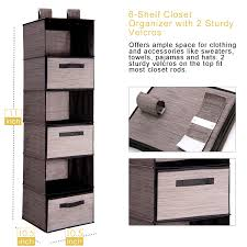 closet hanging shelf maidmax 6 shelf collapsible hanging closet organizer with 3 drawers 2 widen velcros for clothes sweater accessory shoes