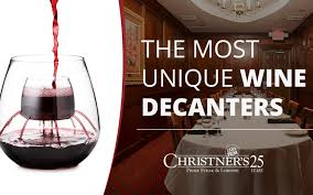 6 of the most unique wine decanters