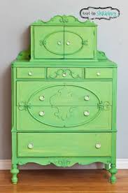 WINE RACK This vintage dresser received a sassy Granny Smith Green custom  color of Antibes Green & English Yellow Chalk Paint decorative paint by  Annie ...