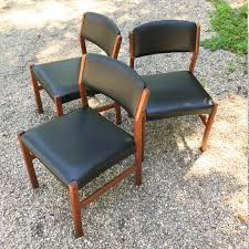 vintage 60s furniture. Danish Teak Dining Chairs Set Of Three Vintage Mid-Century Buck Buch Style Scan 60s Furniture