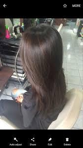 Balayage On Dark Brown Straight Hair