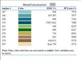 Belle Soie Conversion Chart Thread Conversion Anchor Dmc Soie Dalger Needlenthread Com