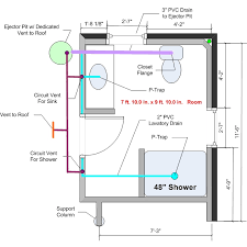 Bathroom Plumbing Installation Plans
