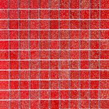 sparkle red glitter glass mosaic