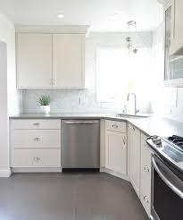 gray porcelain tile kitchen. Delighful Gray White Kitchen With Gray Plank Porcelain Tile Floor To E