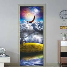 <b>3D</b> Landscape Painting <b>Door Sticker Furniture</b> Wallpaper Living ...