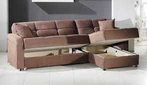brown fabric modern sectional sofa sleeper storage chaise  snet