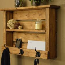 Coat And Hat Rack With Shelf Simply Rustic Wood Entryway Hall Foyer organizer Keys Phone Mail 29