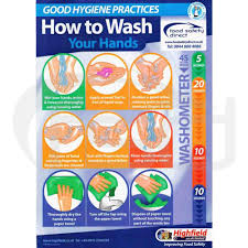 Food Hygiene Poster How To Wash Your Hands Food Safety Direct