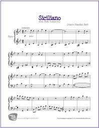 bach sheet music piano siciliano bach free easy piano sheet music makingmusicfun net