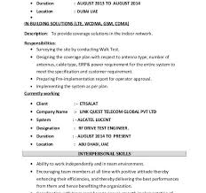 Drive Test Engineer Sample Resume Gorgeous Fresh Rf Drive Test Engineer Sample Resume Winning Download Resume