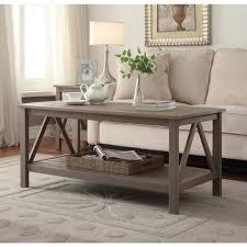 linon home decor titian rustic gray coffee table 86151gry01u the
