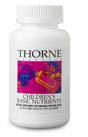 thorne research children basic nutrition 180 kaps