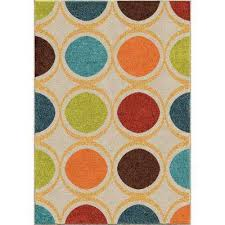orian rugs color circles ivory 8 ft x 11 ft indoor area rug 306033 the home depot