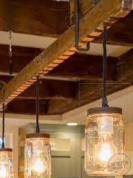 lighting wood. Light Rustic Beam With Edison Lights Lighting Wood P