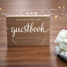 Personalised Wooden Wedding Guestbook Sign Uk Sign Shop