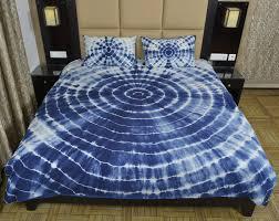 indian indigo mandala tie dye shibori duvet cover with two pillow cases ts dc 116