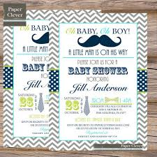 Blue And Black Mustache Or Bowtie Baby Shower BirthdayBow Tie And Mustache Baby Shower