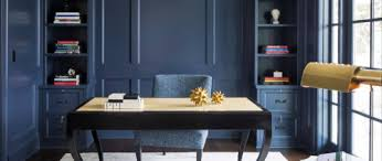 blue office walls. painting your office walls navy blue is a bold move dark color which can quickly overpower the room especially if itu0027s on smaller side o