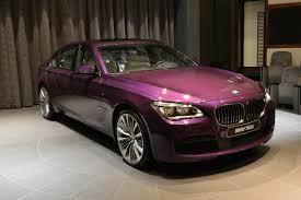 Twilight Purple BMW 740Li Individual Displayed in Abu Dhabi - GTspirit