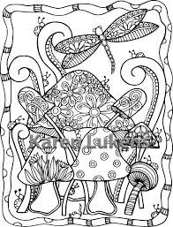 Small Picture 5 pages Dragonfly Coloring Pack 1 5 Adult Coloring Book Pages